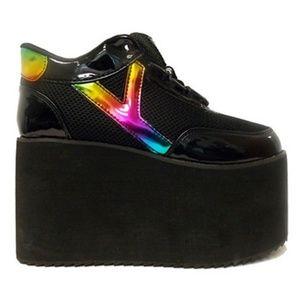 YRU Qozmo Rainbow Platform Shoes (Size 8)